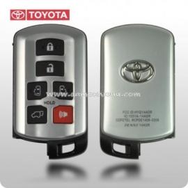Toyota Siena Original Smart ключ на 5 кнопки + 1 panic, для авто с с 2011-2015 годов выпуска.