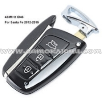 Ключ Hyundai Santa Fe/IX45 Smart Key 3 кнопки, id46(pcf7952), 433Mhz