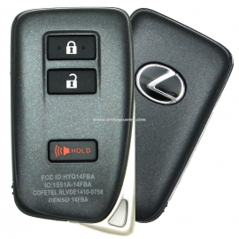 Smart Key Lexus NX 200, 200T, 300H, LX450, LX570 3 кнопки,FCC ID:HYQ14FBA, 89904-78460, для авто с 09.2015-, original