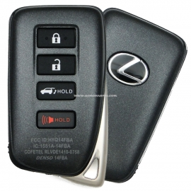Smart Key Lexus NX 200, 200T, 300H, LX450, LX570 4 кнопки,FCC ID:HYQ14FBA, 89904-78470, для авто с 09.2015-