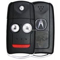 Выкидной ключ Acura на 2 кнопки + 1 panic