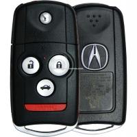 Выкидной ключ Acura MDX RDX TL TSX на 3 кнопки + 1 panic